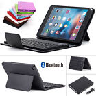For Apple iPad Mini 4 Stand Leather Hard Case Cover+ Silicone Bluetooth Keyboard