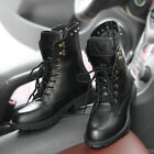 Vintage Men's Genuine leather ankle boots high Top motorcycle male outdoor boots