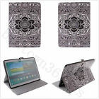 Black Tribal Floral Magnetic Flip PU Leather Book Stand Case Cover For Tablets