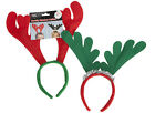 24 REINDEER ANTLERS HEADBAND CHRISTMAS XMAS FANCY DRESS ACCESSORY RED RUDOLPH