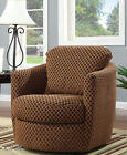 NEW CAROLINA CONTEMPORARY UPHOLSTERED SWIVEL ACCENT CHAIR