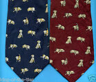 REDUCED TO CLEAR! 100% Silk Puppy Dogs Canine Animal Novelty Fun Tie