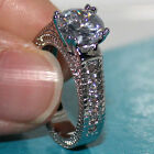 Size 6,7,8,9,10 Womens Handmade Solitaire Style White Sapphire Wedding Band Ring