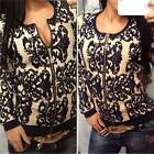 Womens Long Sleeve Embroidered Floral Cardigan Jacket Coat Sweater Outwear B20E