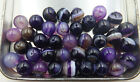Natural purple striped agate Gemstone Round Spacer Loose Beads 6, 8, 10,12 mm