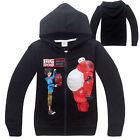 Children Kids Boy Big hero 6 Zipper Hoodie Clothing TOP Jumper Coat