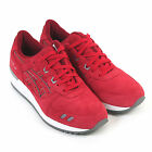 Asics Men's Gel Lyte III Puddle Pack Suede / Mesh Lace Up Trainer Red