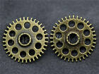 5/20/100pcs Antique Silver Filigree Gear Steampunk Jewelry Charms Craft DIY 26mm