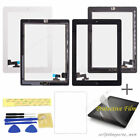 Touch Glass Screen Digitizer Home Button Assembly + Frame For Apple iPad 2 2nd