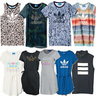 adidas T-Shirt Dress Ladies Summer Long Top Shirt Beach Jersey