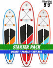 "Two Bare Feet Model One 9'9"" STARTER PACK Inflatable SUP Stand Up Paddle"