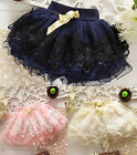 Toddler Baby Girls Princess Floral Mini Dress Kid Tutu Party Dress Short Skirt