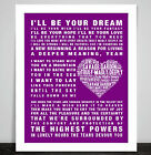 Savage Garden Truly Madly Deeply Music Song Lyric Word Art Print Poster Love