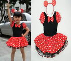 Girl Princess Party Fancy Costume Ballet Tutu Dress+Ear 2-10Y Kids Free Headband
