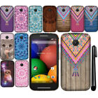 For Motorola Moto E 1st TPU SILICONE Rubber SKIN Soft Case Phone Cover + Pen