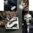1PC Flash Superhero Pendant Necklace DC Marvel Steel Chain Fashion Stainless Men