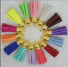 Diy accessories color leather rope heads South Korea velvet short tassel pendant