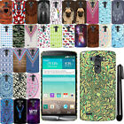For LG G3 D850 D851 LS990 VS985 PATTERN HARD Back Case Phone Cover + Pen