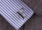 Men's Stainless Steel Initial Cufflinks Alphabet Letter Cuff Links 26 Letters