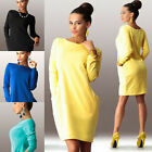 UK Winter Sexy Womens Long Sleeve Shitsuke Evening Party Dress Casual Mini Dress