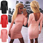 Women Sexy Backless Zipper Bodycon Evening Party Cocktail Short Mini Dresses Top