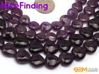 "Natural Heart Amethyst Stone Beads For Jewelry Making Loose Beads Strand 15"" DIY"