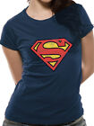 Official Superman (Vintage Logo) Women's Fitted T-shirt - All sizes