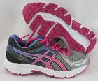NEW Girls Kids Youth ASICS Gel Contend 2 C405N 9135 Silver Pink Sneakers Shoes