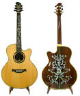 Alulu Acoustic Cutaway Auditorium Guitar Solid Rosewood Classical Inlay NG Serie