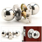 Brushed Stainless Steel Door Knobs Handles Entrance Privacy Passage Lock Latch