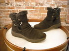 Bare Traps Adalyn Dark Brown Suede Water Resistant Ankle Boots NEW