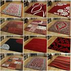 New Small Large Modern Floor Carpets Soft Easy Clean Red Living Room Rugs Cheap