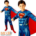 Muscle Superman Boys Fancy Dress Dawn of Justice Superhero Kids Childs Costume