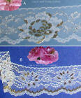 """Gold Lace Trim 4-12 Yds Scalloped 3-1/8""""-4-1/4"""" Floral 010DV Your Choice"""