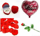 Romantic Valentines Love Items Novelty Gift Propose Teddy Ring Box Rose ML