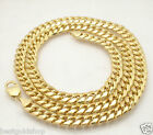 "9mm Mens Tight Miami Cuban Link Chain Necklace Real 10K Yellow Gold 24"" 26"" 30"""