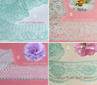 """Mint Lace Trim 6-24 Yards Vintage 1-1/4""""-2"""" Scalloped 016BV Your Choice"""