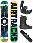 SNOWBOARD SET AIRTRACKS HIGHER ROCKER+BINDUNG+STRONG BOOTS+SB BAG+PAD/150 155cm/