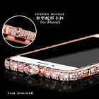 New Luxury Bling Metal Crystal Rhinestone Diamond Bumper Case Cover For iPhone