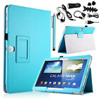 For Samsung Galaxy Note 10.1 P600 2014 Edition Folio Flip PU Leather Stand Case