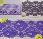"""Purple Lace Trim 3-20 Yds Vintage 2-3/4""""-3-3/8"""" Galloon 022BV Your Choice"""