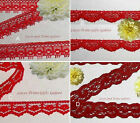 """Red Lace Trim 12-32 Yards Vintage 3/8""""-5/8"""" Scalloped 023AV Your Choice"""