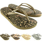 Womens Havaianas Slim Animals Beach Flip Flops Summer Slip On Sandals UK 1-8