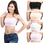 Women's Sexy Lace Casual Crop BoobTube Tops Bandeau Bra Strapless Seamless