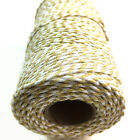 BEAUTIFUL BAKERS TWINE SAFFRON YELLOW / WHITE 2mm 2 PLY - STRING CORD TWO TONE