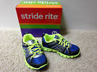 NEW STRIDE RITE BOYS PROPEL Blue/Lime  Athletic SHOES Laces Pick Sz Free US Ship