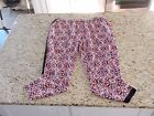 NWT! AMBAR Womens Casual Lightweight Printed Pants Size S M XL