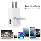 USB Power Adapter AC Home Wall Charger For Samsung Galaxy S5 G900 + Cable SYNC