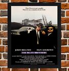 Framed The Blues Brothers Movie Poster A4 / A3 Size Mounted In Black/White Frame