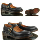 WOMENS LADIES DR MARTENS INDICA BLACK SMOOTH LEATHER MARY JANE FORMAL SHOES